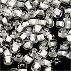 cuentas de rocalla de vidrio Transparente 4mm Centro Blanco 20g (6/0)