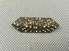 Ancienne broche métal et pierre style diamant art pop french antique jewel