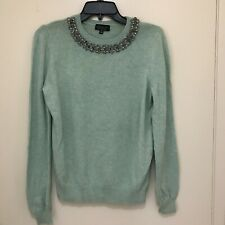 Topshop Green Embellished Sweater Size 4