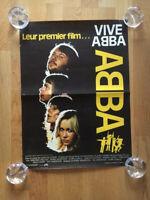 ABBA DER FILM VIVE ABBA Kinoplakat FRANKREICH von 1977/1978 ORIGINAL! RAR!