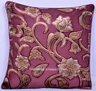 "Floral Pillow Home Decor Throw Indian Velvet Cushion Cover Ethnic Decor Art 16"""