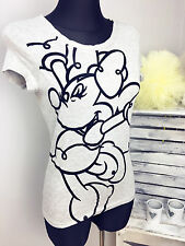 Ladies Disney Minnie Mouse Grey T Shirt Top Sizes 6-20  RECOMMENDED!!!!!!!!!!!