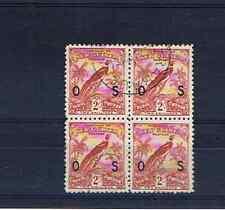 NEW GUINEA 1931 DATED BIRD OS OVERPRINT BLOCK OF 4 F/USED