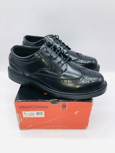 DEER STAGS Men's Tribune Wingtip Style Oxfords Black US 11.5W
