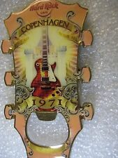 COPENHAGEN,Hard Rock Cafe,Magnet Bottle Opener  Guitar Head