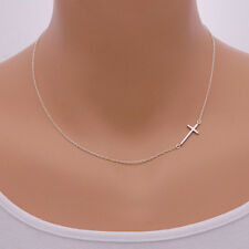 Fashion Women Sideways Cross Necklace Beautiful Accessories Clavicular Chain