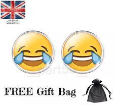 High Quality Emoji Stud Earrings Lol Pmsl Wtf OMG Smiley Gift Present UK Fashion