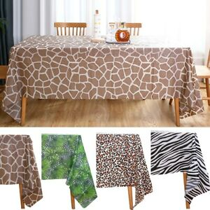 Safari Animal Jungle Theme Waterproof Tablecloth Home Garden Party Decoration