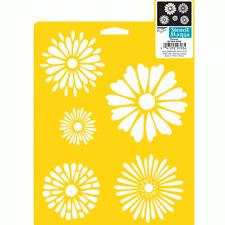DAISY STENCIL DAISIES FLOWER FLOWERS STENCILS PATTERN TEMPLATE CRAFT DELTA NEW