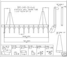 "dozer blade root rake, 140"" wide, ar400 steel New, Usa Attachments"