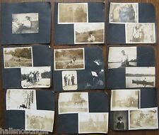 38 Photos 1905 cats, people with dogs, poker blanket, party folks, horse buggy