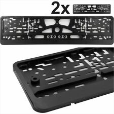 2x Black ABS Number Plate Surrounds Holder Licence Plate Frame New For Cars Van