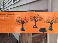 Dept 56 Halloween Village Accessory Haunted Sounds Lit Trees Set 3 (B)