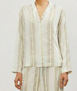 Authentic HANRO Aria Silk Mix Long Sleeve Pyjama Shirt/Top, Brand New, RRP £145