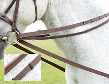 Shires Cotton Web Unisex Saddlery and Equipment Draw Reins - Black All Sizes 22mm