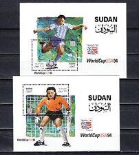 Africa, Scott cat. 479-480. Usa World Cup Soccer Championship s/sheet.