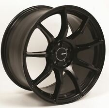 18x8.5 Enkei TS9 5x100 +40 Black Rims Fits Brz Impreza Neon Tc Golf