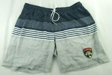 Florida Panthers NHL G-III  Men's Grey Embroidered Large Swimming Shorts