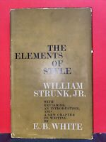 1959 The Elements of Style William Strunk, Jr. First Printing E.B. White HC DJ