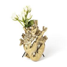 SELETTI vaso a forma di cuore LOVE IN BLOOM GOLD oro By Marcantonio