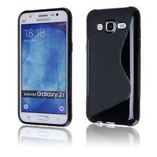 Pour Samsung Galaxy J7  (2015 )  Coque en Gel Silicone S-line S-Ligne Noir