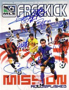 2002 US World Cup Team autographed signed MLS program Landon Donovan Cobi Jones