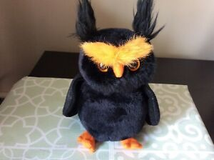"""Ty Beanie Baby """"HOOTSEY"""" the Halloween Owl MWMT 2008 / Ty Store Exclusive"""