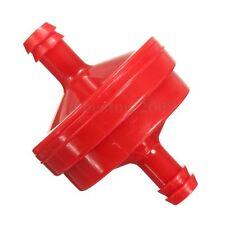 Fit Briggs & Stratton 298090 Lawn Mower 1x 1/4'' Plastic Fuel Filter Red Inline