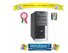 COMPUTER HP PAVILION / CPU AMD  DUAL CORE 3,0 GHZ  / WINDOWS 7 PRO  - LICENZA