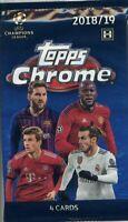 TOPPS 2019 CHROME UEFA CHAMPIONS LEAGUE T/C 4 CARDS PACK - 4 SAMMELKARTEN - L045