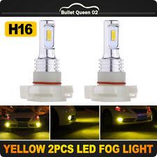 2PCS 70W H16 5202 3570 LED Headlight Fog Light Lamp Bulbs 8000LM 3000K Yellow US