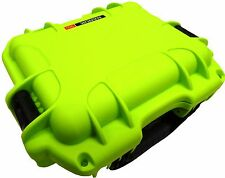 Lime Green Nanuk 905 Case With Foam & Pelican TSA- 1200 Lock