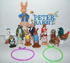 Peter Rabbit Figure Set of 14 Toy Kit with 12 Figures and 2 Toy Bunny Bracelets