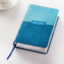 HOLY BIBLE KJV King James Version Large Print Red Letter Edition Two-Tone Blue