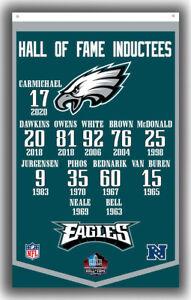 Philadelphia Eagles Hall of Fame Inductees Banner 90x150cm 3x5ft Football Flag