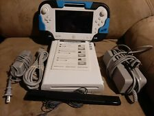 NINTENDO WII U 8GB WHITE SYSTEM CONSOLE TABLET SENSOR BAR CABLES! WORKS GREAT!