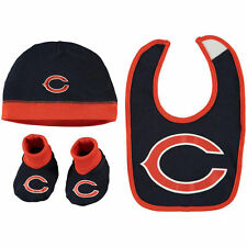 Chicago Bears Baby Cap, Bib and Booties 3 Piece Set 0 to 6 Months