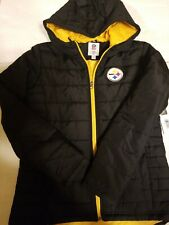 NWT Pittsburgh Steelers Womens SZ Medium Zip Lightweight Puffer Jacket *MSRP $60