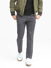 Banana Republic Men's Slim Performance Stretch Wool Dress Pant Charcoal 34W/30L