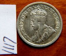 1912 Five 5c cent silver coin Canada