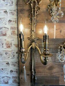 Bronze Wall Lamp Handmade Wall Light Lighting Fixture Sconces 2 Lights Bronze
