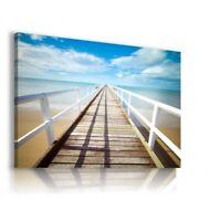 PIER BEACH SEA View Canvas Wall Art Picture   L252 MATAGA  UNFRAMED-ROLLED