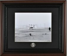 Wright Flyer Brothers First Manned Flight Framed Print NC State Quarter Coin COA