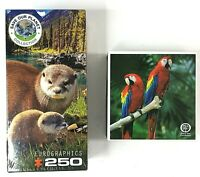 250 - 300 Piece Jigsaw Puzzles Save Our Planet Otters Arbor Day Parrots NEW