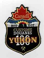 Canada Customs 100th Anniversary Yukon patch Police