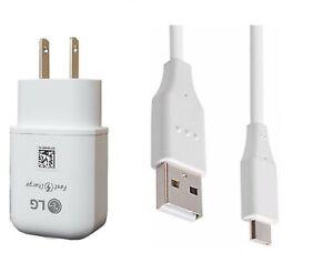 LG OEM Fast Wall+LG USB-C For LG Stylo 4/5/6/7,V20/30/V40/V50/V60,G6/G7/G8 ThinQ