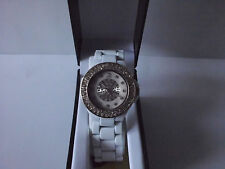 BRAND-NEW BOXED HIGH-QUALITY GOSSIP-BRAND LADY'S WHITE GLITTERING WRIST-WATCH