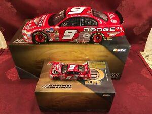 BILL ELLIOTT 2003 #9 Dodge Dealers Brickyard 1/24 Elite 1/64 Elite Diecast  SET
