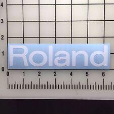 """Roland Logo 6"""" Wide White Vinyl Decal Sticker - BOGO"""