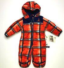 Rugged Bear Winter Infant Snowsuit Orange Navy Blue 3-6 Months NEW